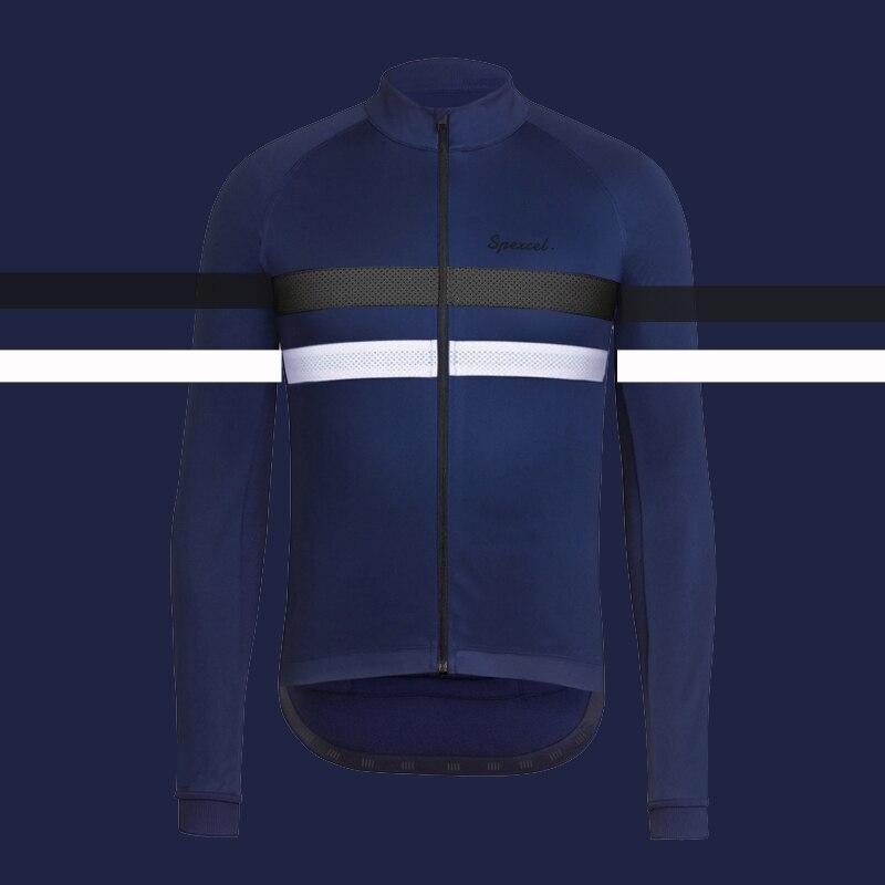 2018 SPEXCEL Top qualité Hiver Coupe-Vent résistance à l'eau Veste de vélo Hiver polaire thermique Cyclisme vêtements marine noir