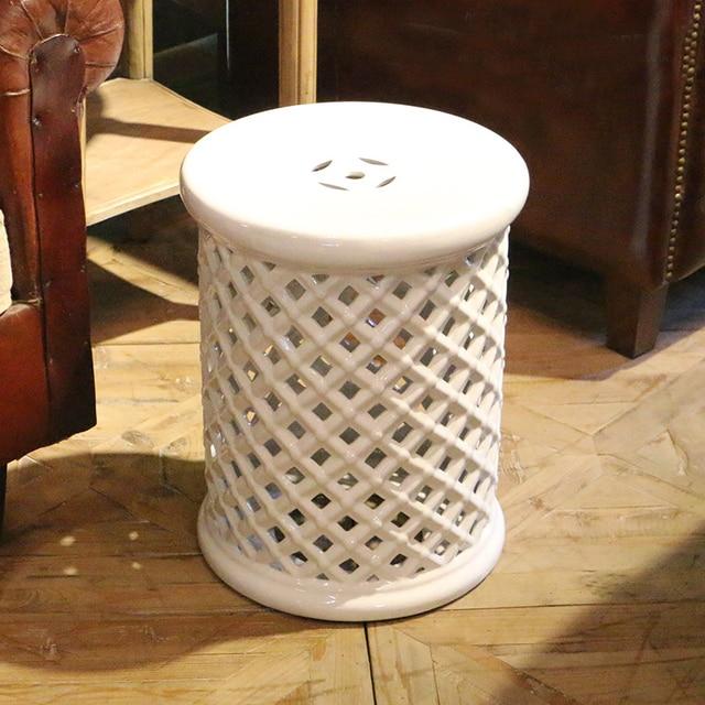 Living Room Furniture Ceramic Hollow Stool