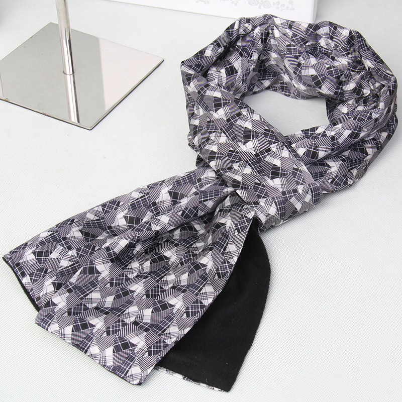 genuine casual silk scarves winter Men's silk Scarf luxury High Quality Warm Modal Scarves men ZS998