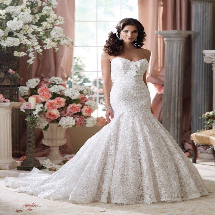 2015 High Fashion Designer Arabic Lace Mermaid Wedding Dress With