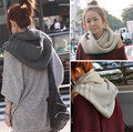 Hooded Scarves, Hooded Neck Warmers, Hooded Pullerover, For Fall and Winter,Unisex,5 Colors Choice