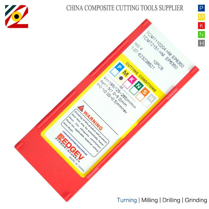 Inserti in metallo duro EDGEV 10PCS TCMT110204 TCMT110208 TCMT2152 - Macchine utensili e accessori - Fotografia 4