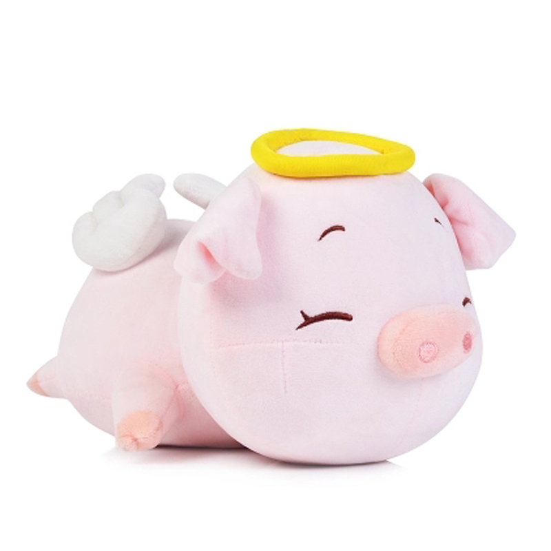 60cm Lovely Angel Pig Plush Toy Stuffed Soft Animal Doll  Baby Kawaii Pig Pillow Best Christmas Gift for kids 2017 hot sale plush soft toys doll stuffed animal toy plush green frog dolls with sucker for baby kids pillow christmas gift