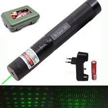 532 nm Green Laser Sight laser 303 pointer Powerful device Adjustable Focus Lazer with laser 303+charger+18650 Battery цены онлайн