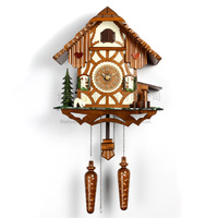 Cuckoo clock, wood clock living room clock musical alarm clock kids room decoration