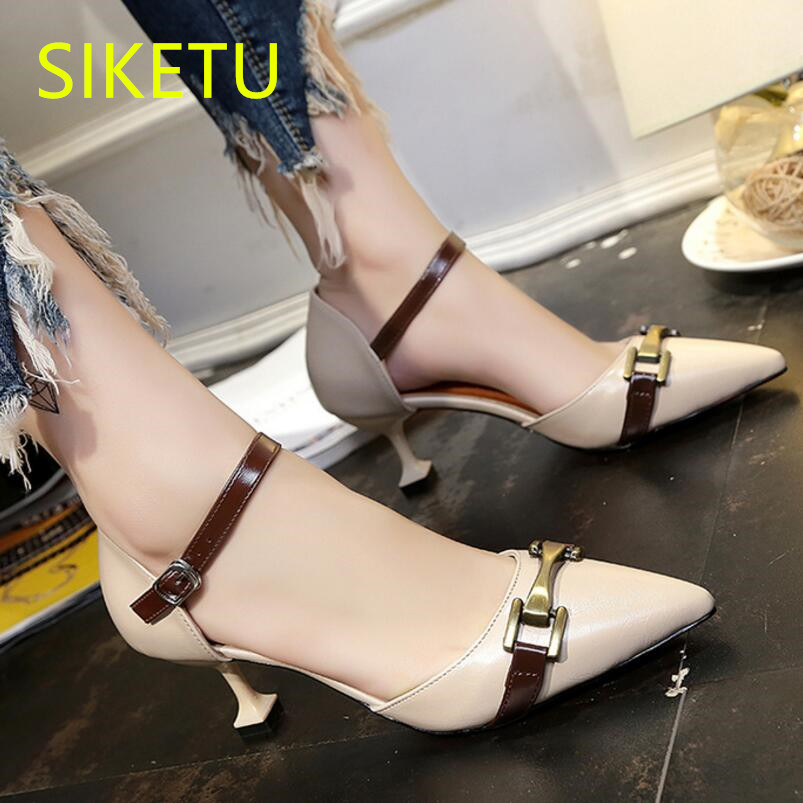SIKETU Free shipping Spring and autumn women shoes Fashion high heels shoes summer wedding shoes pumps g359 Wild sandals 2017 free shipping siketu spring and autumn women shoes fashion high heels shoes wedding shoes pumps g174 summer sandals