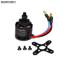 Sunnysky x2212 980kv kv1400/1250/2450 motor sem escova (eixo curto) quad-hexa copter promoção por atacado