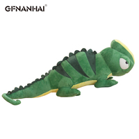 Big Simulation Dinosaur Plush Toys Cartoon Chameleon Soft Pillow Toy Animal Model for Children Boys Baby Birthday Gifts Doll