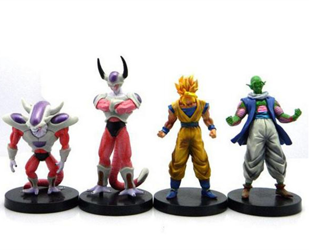 4 pcs dragon ball z action fiogures lot banpesto lot 2016 New 10 cm super saiyan 3 goku figuras de a o acci n figuras abz anime