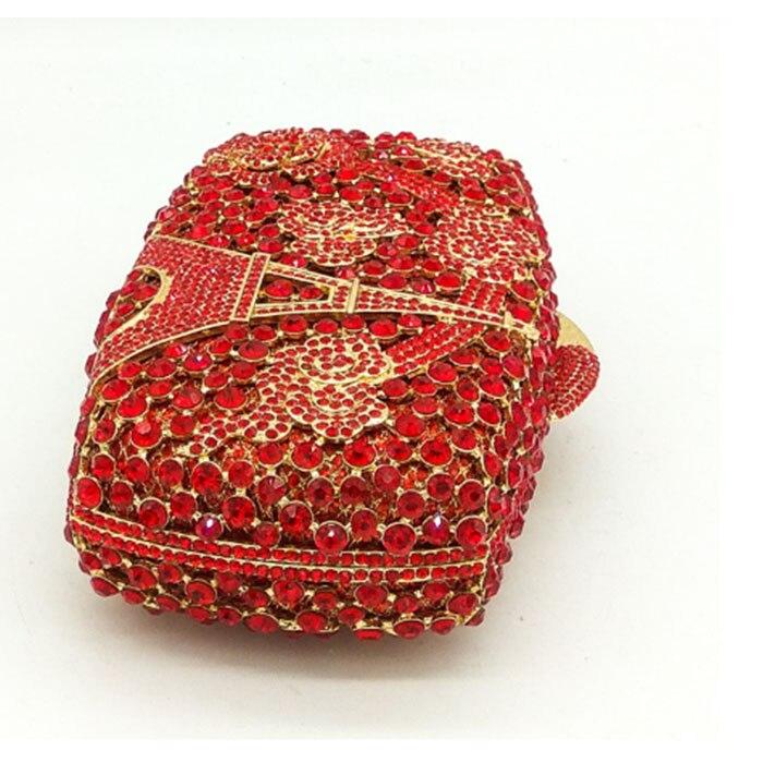 Main Cristal À Nouveau Fleur Embrayages Mariage Luxe Partie Rouge Femmes Sacs Mode De Sac Femelle Dames Coloré Soirée Diamant Cocktail UTI4w1FTq