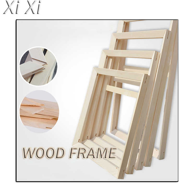 Wood inner frame oil painting DIY custom frame pictures by numbers canvas painting diamond painting photo frame