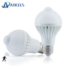 AC 85-265V Motion Sensor E27 LED Bulb 5W 7W 9W LED Lamp Smart Light control + PIR Infrared Body Sensor Night Light стоимость