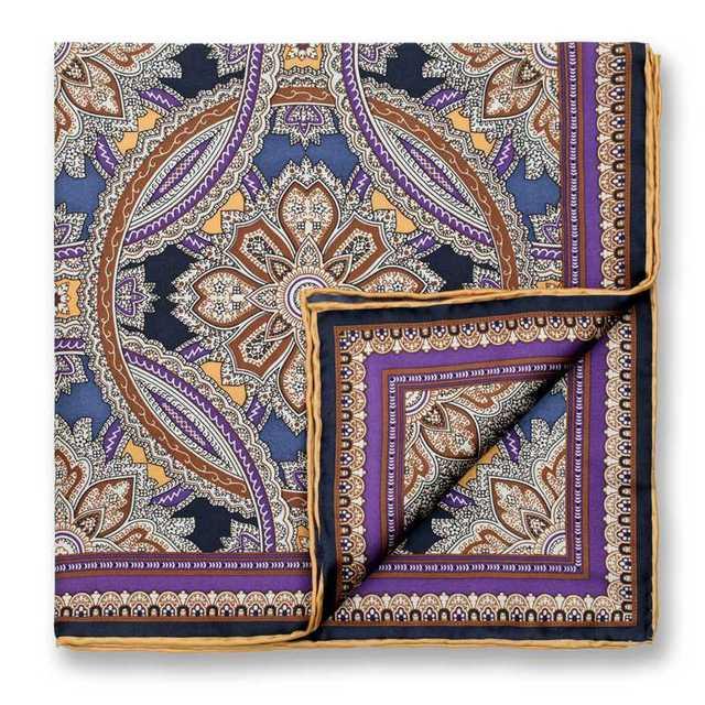 [43% OFF] 45*45 см шелковицы Bocoos мода костюм платок мужской моды карман полотенце фиолетовый цвет