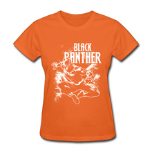 Orange Shirt New Style Women T Shirts Black Panther Anime Movie Graphic Tee  Shirt For Lady 1230ad0ef9e3