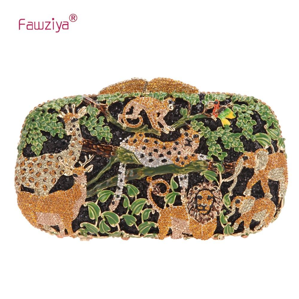 Fawziya Forest Animal Pattern Fashion & Trendy Style Clutch BagFawziya Forest Animal Pattern Fashion & Trendy Style Clutch Bag