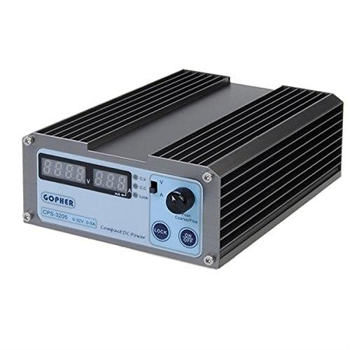 Redsky CPS-3205 0-30V-32V Adjustable DC Switching Power Supply 5A 160W SMPS Switchable AC 110V (95V-132V) / 220V (198V-264V) gophert cps 1660 16v 60a digital adjustable dc power supply switching power supply cps 1640