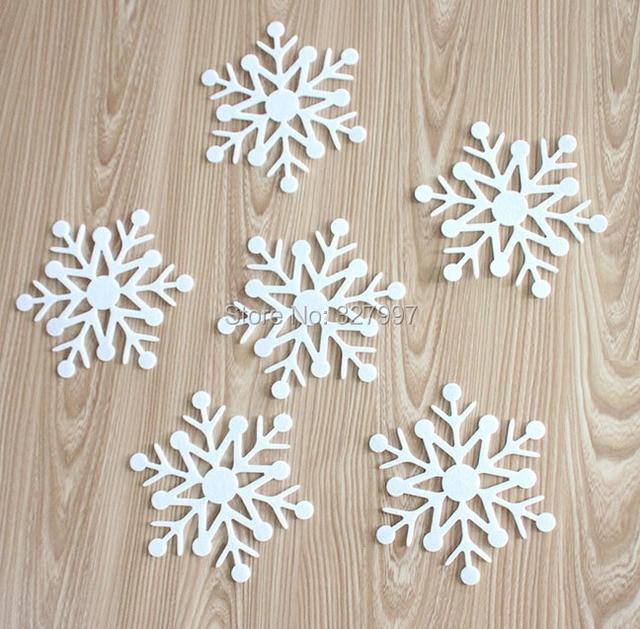 36 unids/lote árbol de navidad copo de nieve decoración 15 cm de ...