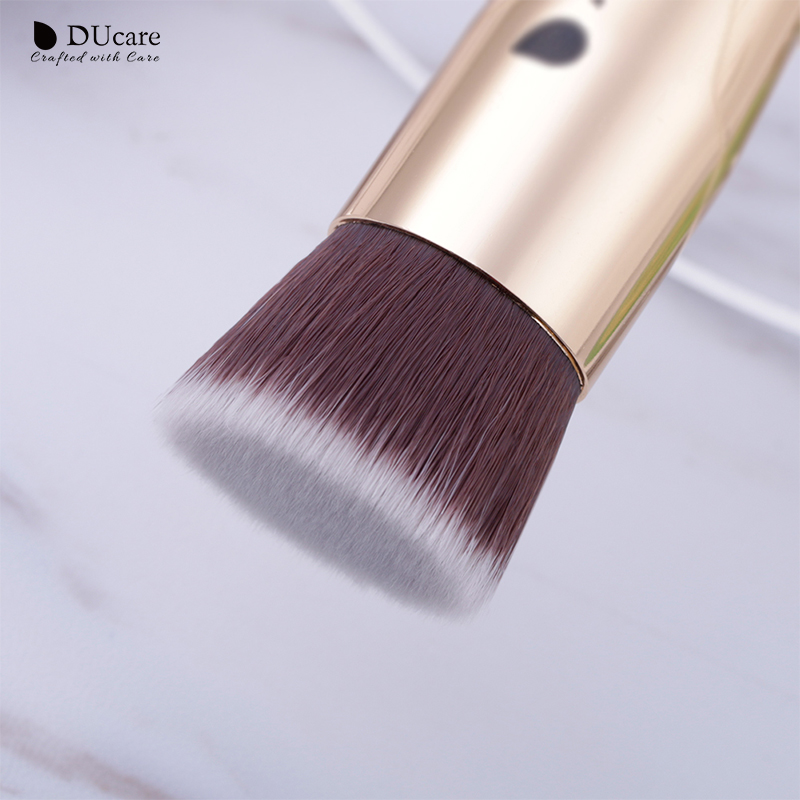 DUcare 1 PC Foundation Brush Flat Kabuki Brush Golden Face Brushes For Makeup Cosmetic Tools in Eye Shadow Applicator from Beauty Health
