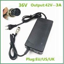 42V3A литиевая батарея для электровелосипеда Батарея Зарядное устройство для Е байка 36В Liithium Батарея пакет 3 Pin гнездовой разъем XLRF XLR Сделано в Китае 3 розетки е байка 36В Зарядное устройство