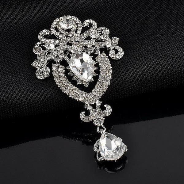 Fein Weimanjingdian Marke Große Kristall Diamante Strass Teardrop Hochzeit Brosche Pins In Verschiedenen Farben Buy One Give One Schmucksets & Mehr