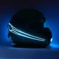 Tira de casco de motocicleta ligero nuoxr LED resistente al agua luz fría señal de conducción nocturna luz luminosa modificada pegatina para casco
