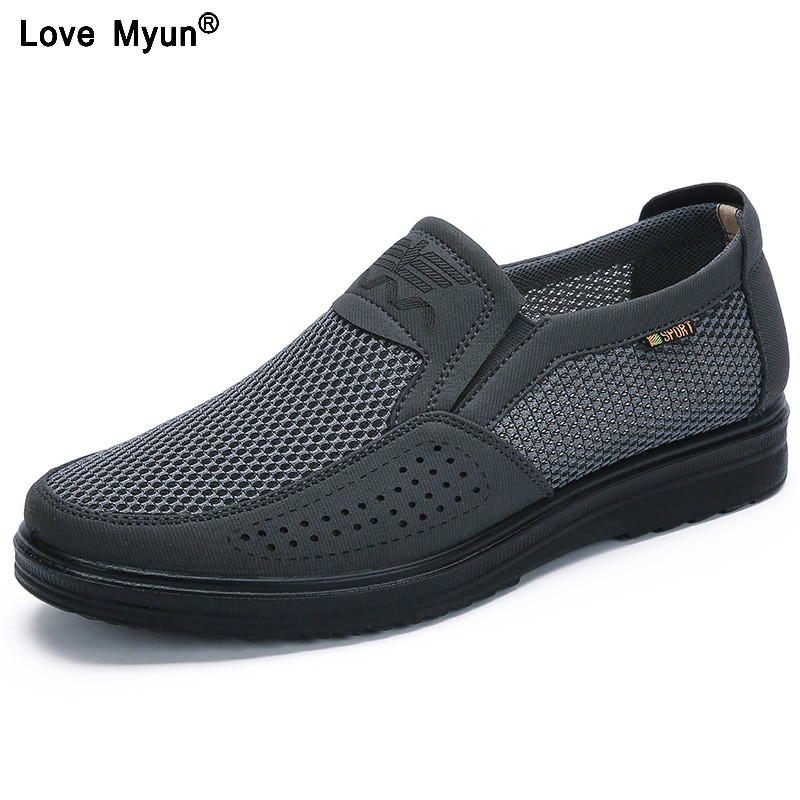 Men'S Casual Shoes Men Summer Style Mesh Flats For Men Loafer Creepers Casual High-End Shoes Very Comfortable Fgb6