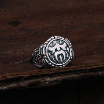 Dropshiping Odin Symbol Norse Viking Runes Rings For Men Runic