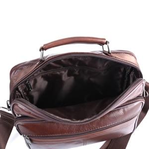 Image 5 - ZZNICK Men messenger bags luxury genuine leather men bag designer high quality shoulder bag casual zipper office bags for men