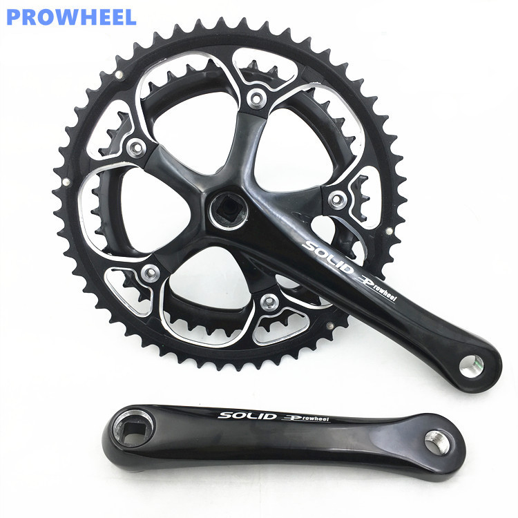 Bike Chain Wheel 42*52T Bicycle Crank 170 Fit 9/27 Speed Road Bike Cycling Bicycle Crank&Chainwheel Suit west biking bike chain wheel 39 53t bicycle crank 170 175mm fit speed 9 mtb road bike cycling bicycle crank