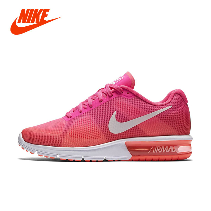 Фотография NIKE AIR. MAX SEQUENT Women Girls Lightweight Damping Running Shoes Big Kid Children Breathable Casual Sport Sneakers