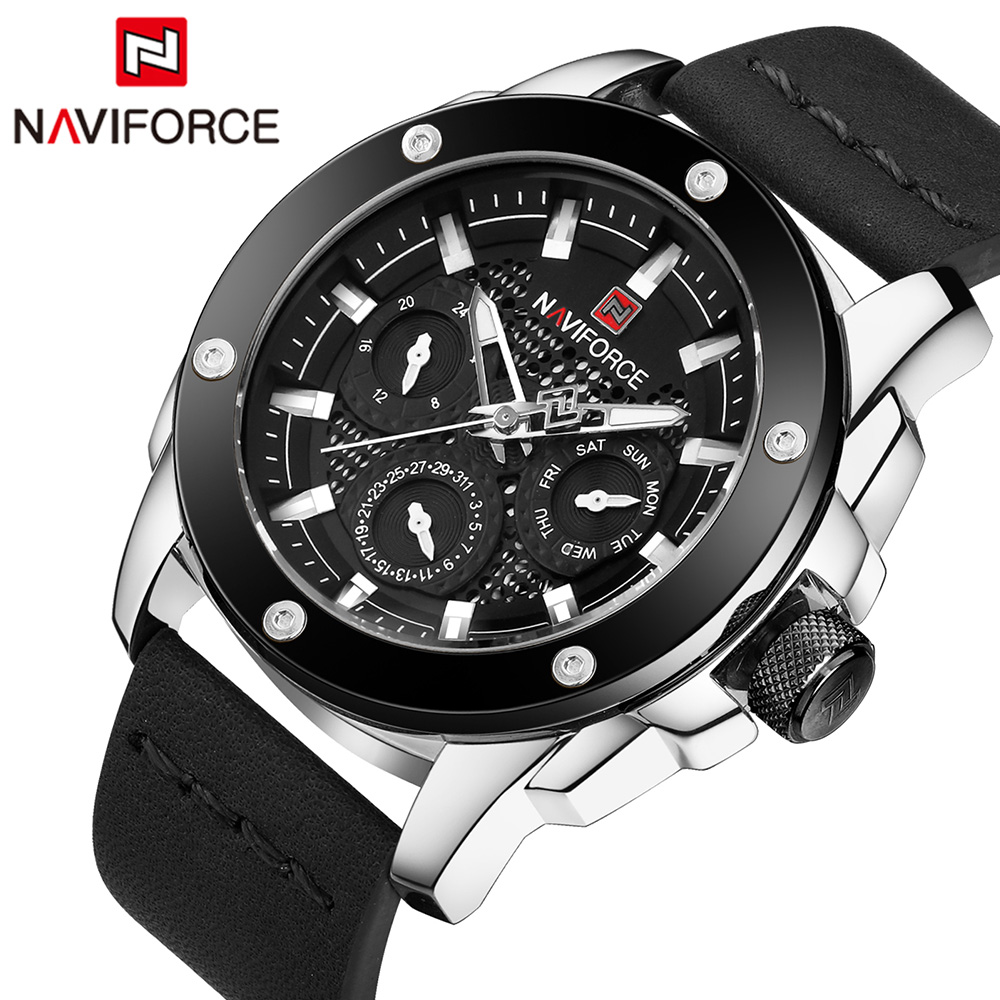 Naviforce Quartz Men Watches Top Brand Luxury Famous Men Military Watch Leather Men Sports Watches Waterproof Relogio Masculino