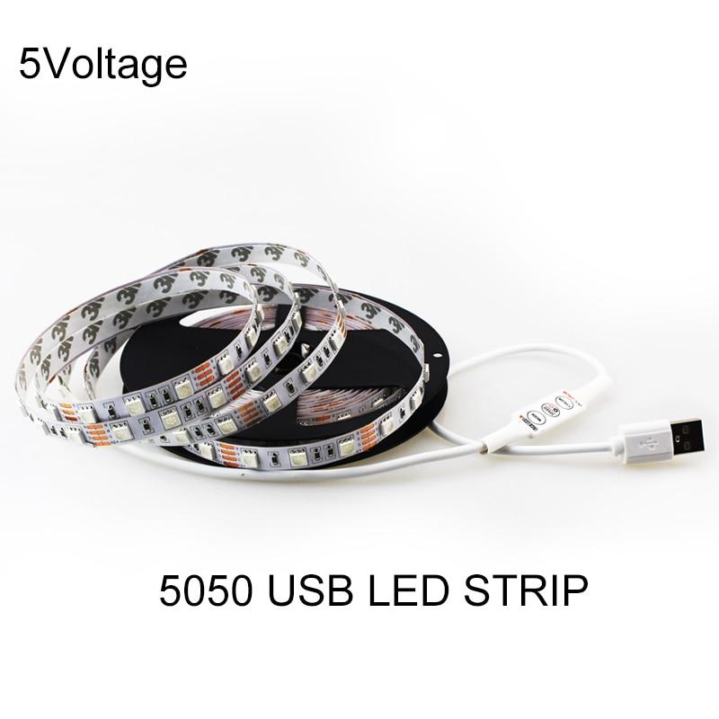 1M / 2M / 3M / 5M USB LED Light Strip 60leds / m DC 5v 5050 SMD LED - Illuminazione a LED