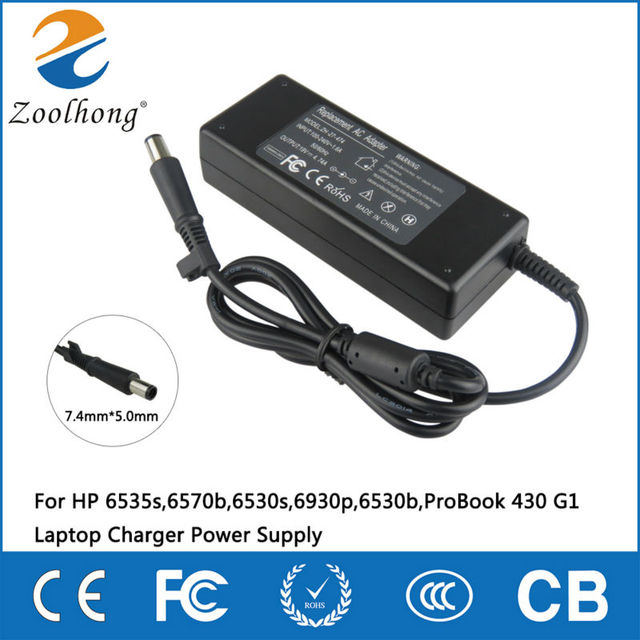 19V AC Adapter For HP 6535s,6570b,6530s,6930p,6530b,ProBook 430 G1 Laptop Charger Power Supply