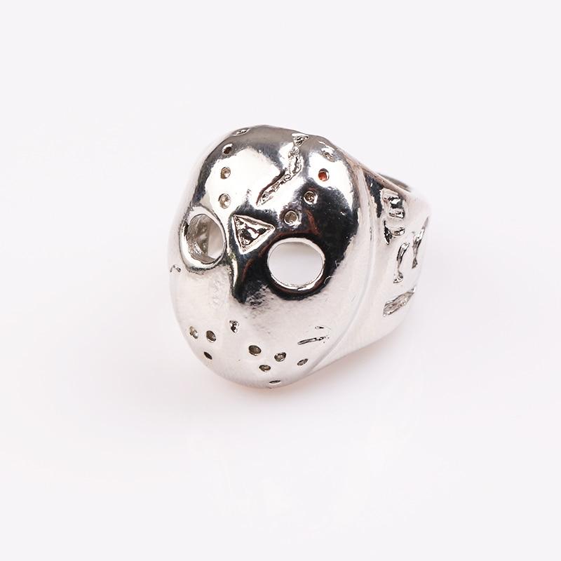 rongji jewelry Black Friday Hockey Jason Mask SKull Rings Alloy ring for men and women factory outlet