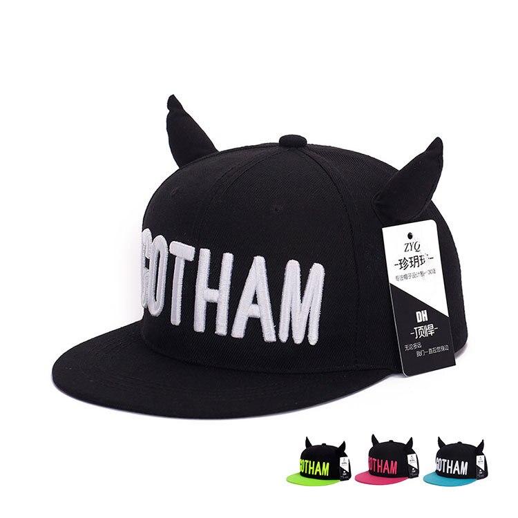 baseball cap ears minnie mouse in or out style women men ox horn font batman caps devil demon