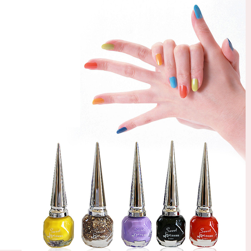 30 Colors Natural Water Peelable Nontoxic Tasteless Economic Nail ...
