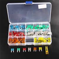 Juego de surtido de fusibles de tamaño pequeño de perfil de 120 piezas para Auto Car Truck 5/10/15/ fusible de 20/25/30 A con caja de plástico