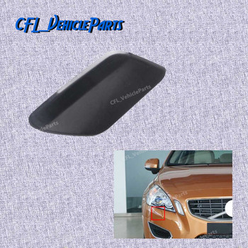 Front Right Bumper Headlight Washer Jet Nozzle Cover Cap Unpainted 39802699 For Volvo S60 2011 2012 2013 image