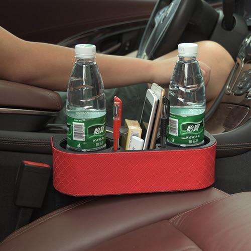 Car PU Leather Seat Seam Wedge Cup PU Leather Holder Food Drink Bottle Mount Stand Storage Organizer платье seam seam mp002xw18uic