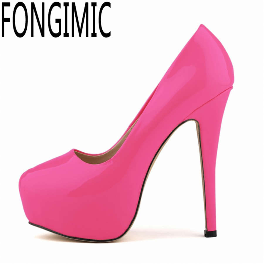 Fashion women ladies pumps with platform spring summer round toe thin heel shoes new arrival high quality brand slip-on pumps new 2017 spring summer women shoes pointed toe high quality brand fashion womens flats ladies plus size 41 sweet flock t179