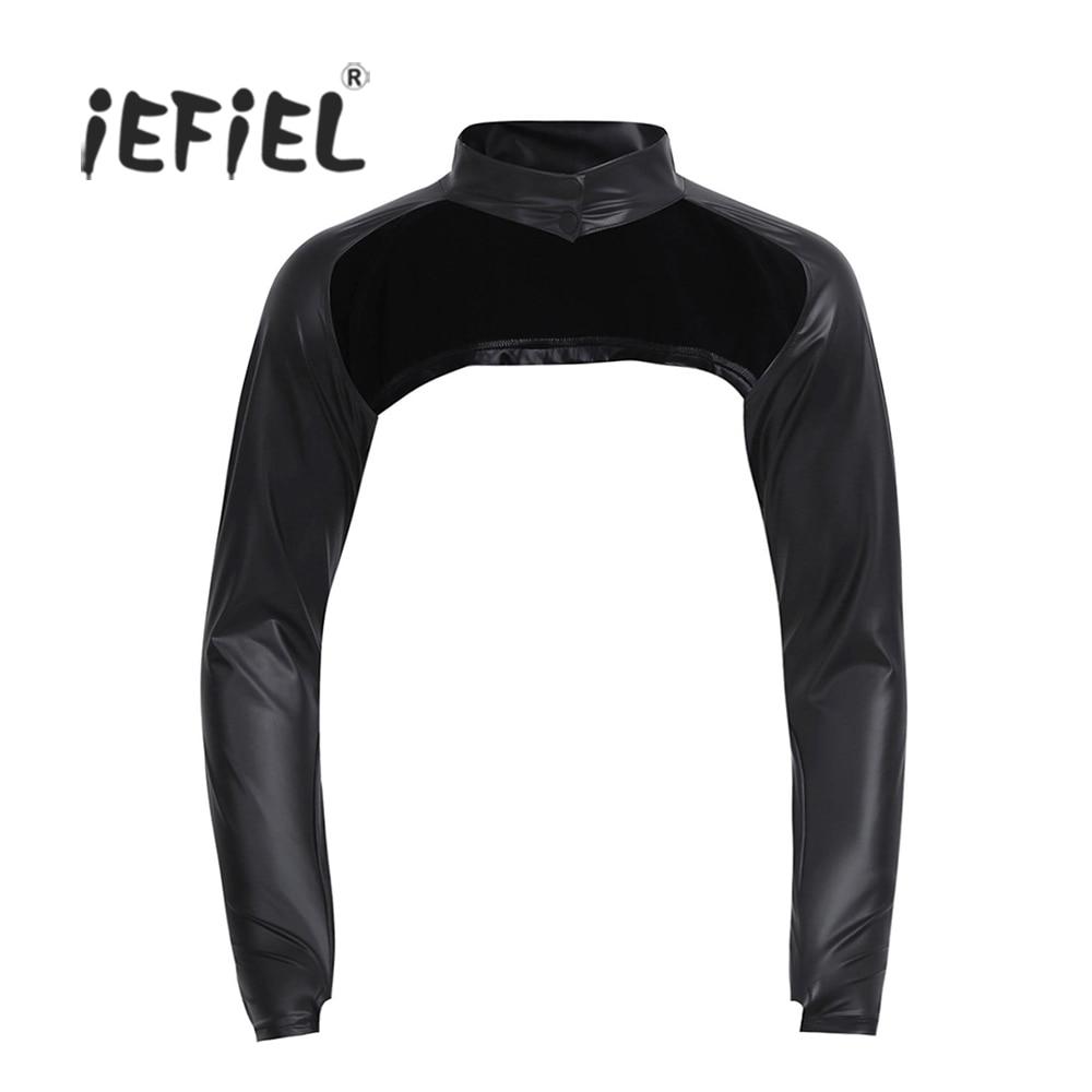 Half Jacket 2 0 >> New Black Mens Faux Leather Long Sleeve Half Jackets Hollow Arm Sleeves Shrug Bolero Motorcycle ...