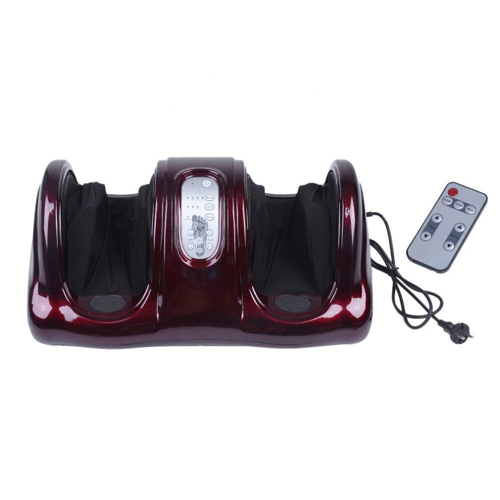 Pro Elektrische Antistress Therapie Rollen Shiatsu Kneten Fuß Beine Arme Massager Vibrator Fußmassage Maschine Fußpflegegerät