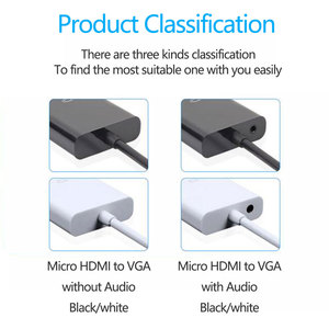 Image 5 - 1080P Micro HDMI zu VGA Video Converter Adapter Kabel Für PC Monitor Projektor