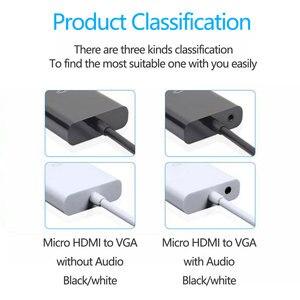 Image 5 - 1080P mikro HDMI VGA Video dönüştürücü adaptör kablosu PC monitör projektör için