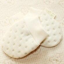 Детские перчатки из органического хлопка, зимние варежки для новорожденных, теплые детские перчатки с защитой от царапин для мальчиков и девочек от 0 до 6 месяцев, 515