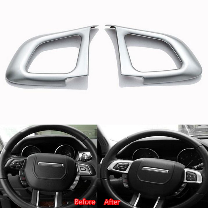 YAQUICKA 2Pcs/set Auto Car Steering Wheel Sequins Cover