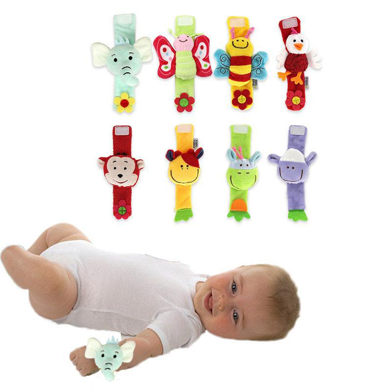 1pcs Baby & Toddler Toys Baby Infant Developmental Wrist Strap Foot Socks Rattle Bug Finders Toy