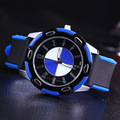 Carro Top 2016 Homens Relógios de Luxo Da Marca Relogios Auto Data Quartz Silicone Homens Relógio Masculino relogio masculino reloj