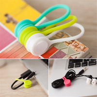 10/PCS Magnetic Wire Cable Organizer Cord Earphone Storage Holder Clips Cable Magnet Coil Winder Headset Cable Organizer Winder