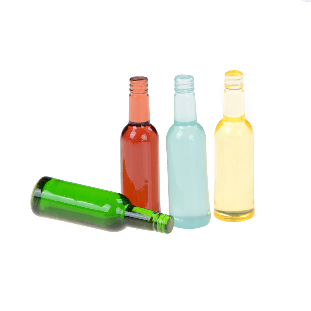 6Pcs Classic Toy DIY 1:12 Dollhouse Miniature Wine Bottle Model Pretend Play Mini Food Doll Fit Toy For Kids Scale Model